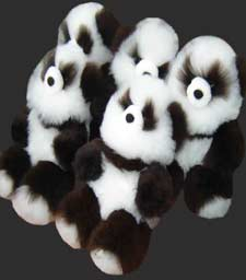 Alpaca skin Panda Teddy Bear is very soft
